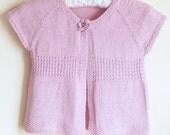 Knitting Pattern Cardigan Sweater - Emma a Seamless Top Down Cardigan (6 Sizes, 0 - 7 yrs)