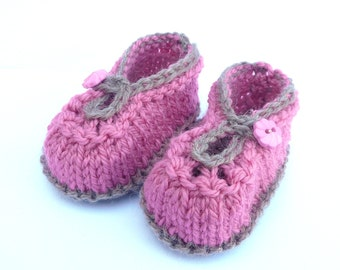 Knitting Pattern Baby Booties - Summer Sorbet Baby Shoes (Sizes for 0 - 12 mths)