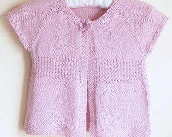 Knitting Pattern Cardigan Sweater - Emma a Seamless Top Down Cardigan (6 Sizes, 0 - 7 yrs)