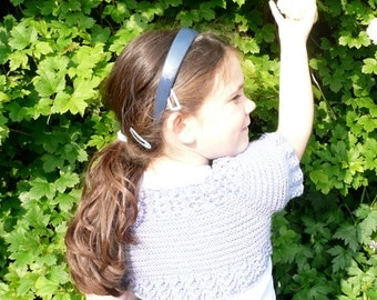 Knitting Pattern Shrug Cardigan Bolero Seamless Top Down Girls - Eva an everyday lacy shrug (6 Sizes from Newborn - 7 yrs)