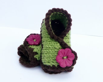 Baby Knit Sandals - Baby Booties - Knitting Pattern - Baby Crossover Sandals - 4 Sizes Newborn - 12 Mths