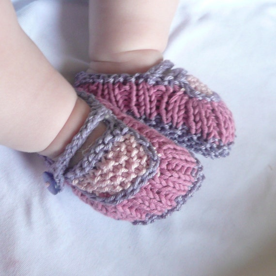 Knitting PATTERN  BABY Booties INSTANT Download - Beautiful Baby Mary Janes Baby Shoes