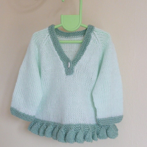 Knitting Pattern Sweater Jumper - Petal Bottom Up Knit
