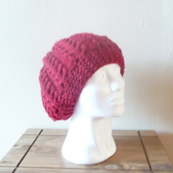 Knitting PATTERN SLOUCHY HAT Edale Slouch Hat Beanie - Instant Digital Downlo...