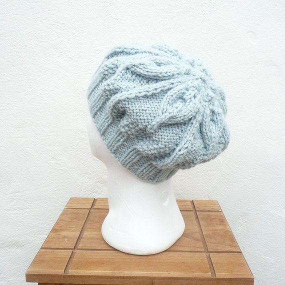 Knitting Pattern Hat Beret : Knitting PATTERN HAT Tam Beret Beanie INSTANT Download ...