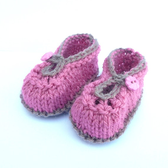 Knitting Pattern Baby Booties Summer Sorbet Baby Shoes by ceradka