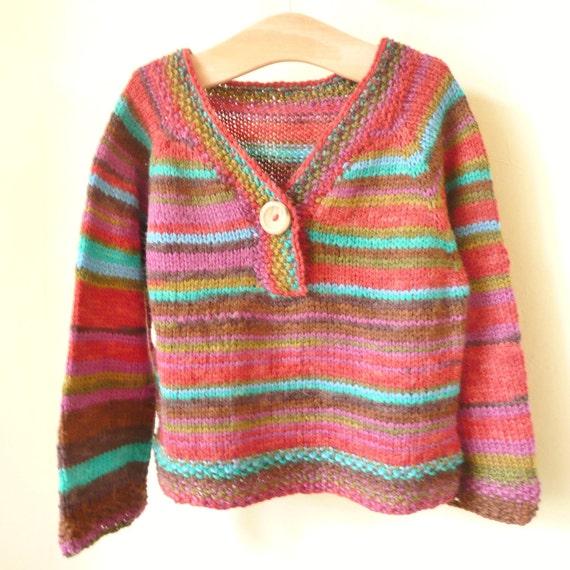 Knitting Pattern Sweater Jamie Top Down Seamless Jumper 6