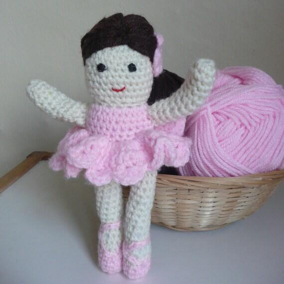 Amigurumi Ballerina Pattern : Bella the Ballerina Amigurumi PDF Crochet Pattern by ceradka