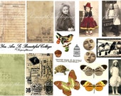 You Are So Beautiful Vintage Photo ACEO Backgrounds Digital Collage Sheet Altered Art