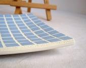Soft blue rectangular dish - mosaic