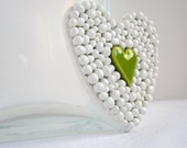 Chartreuse heart - Wall Art