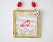 Little Robin Honeycomb - mixed media original art