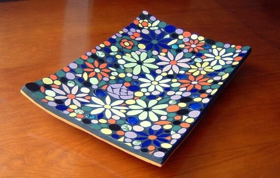 RESERVED - Japanese Hanamoyou mosaic centerpiece dish