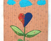 Heart Flower in the Rain (Quilt by Kate)