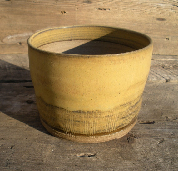Round Planter with Bamboo Glaze