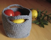 SALE - Recycled Cotton Yarn Mini Tote in Denim Blue