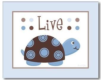 Nursery Prints Turtles, Nursery Wall Art Prints Mod Turtles, Turtles Wall Art, Nursery Wall Decor, Children Kids Wall Art, Kids Room Decor
