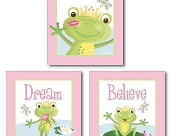 Frogs Nursery Prints, Frogs Nursery Wall Art, Frogs Nursery Wall Decor, Children Room Art, Frogs Kids Room Decor, Frogs Bathroom Prints