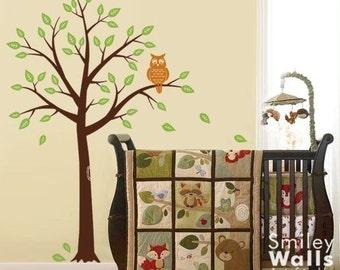 Tree and Owl - Nursery Vinyl Wall Decal