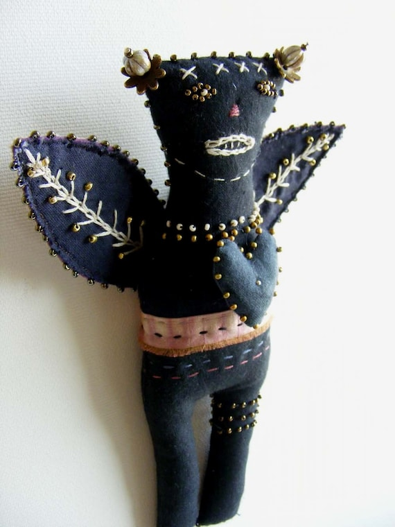 Forest spirit folk doll - hand dyed cottons and silk.