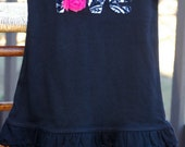 Adorable Valentine tunic/dress.  Handstitched applique using soft, minky fabric.
