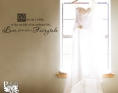 Love Gives You a Fairytale Wall Words Design Decal Swanky Surface Graphic You Choose Color FREE SHIPPING