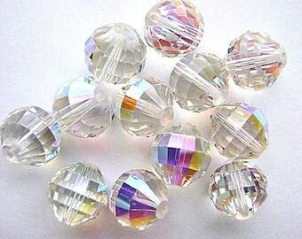 Beads,VINTAGE ,SWAROVSKI ,14mm ,Crystal AB, Crystal, Large, Focal, Glass, Original, Package, Austrian