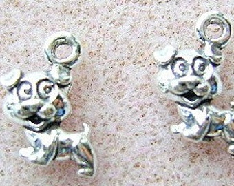 Charms, Sterling, Silver, DOG  10 Piece Lot, Puppy, Animal