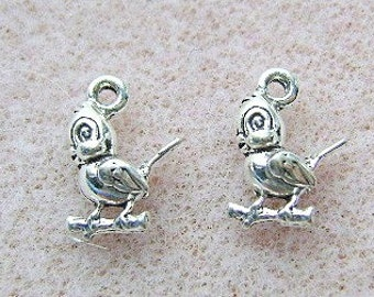 Sterling Silver BIRD on a PEARCH Charm 10 Piece Lot