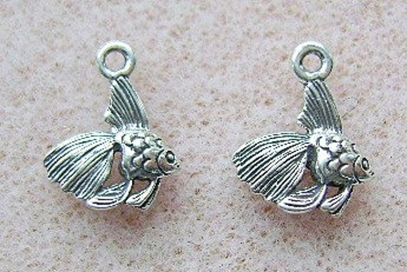 Sterling Silver ANGELFISH Charm, Pendant, 7 Piece Lot