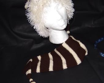 Long stocking hat With fun Fur