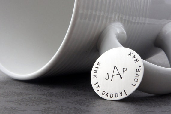 Personalized Golf Ball Marker - Custom Sterling Silver Gift for Daddy by Eclectic Wendy Designs - Golfer Gift