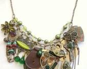 SALE - ARABIAN PRINCESS - ooak statement treasure chest charm necklace