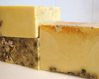 SOAP- Lemon Soap with Chamomile - Vegan Soap - Handmade Soap- Soap Gift