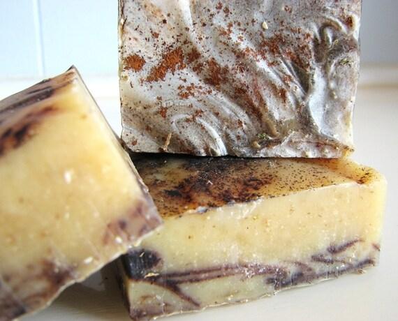 SOAP- Organic Cinnamon Bark Soap - Cold Processed Soap - Handmade Soap - Vegan Soap