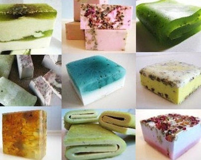 60 very unique assorted vegan handmade soaps. GREAT FOR GIFTS, Wedding Favors, Corporate Gifts And Special Events.