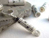 Music Ear Cuff, Recycled Paper Bead, Eco Friendly Jewelry, Cartilage Earcuff