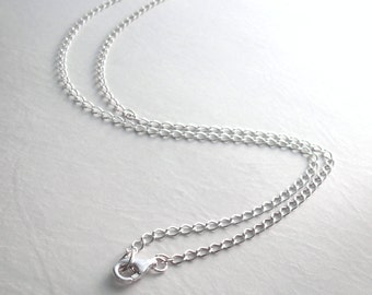 30 inch Sterling Silver Chain, 76 cm Long Chain, Finished Chain for Necklaces