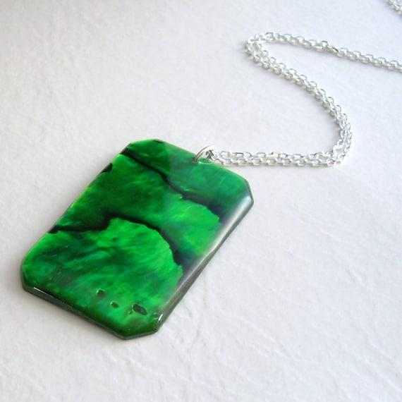 Paua Abalone Shell Necklace, Emerald Green Jewelry, May Birthday