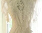 Bridal Wedding Dress White  Vintage by Jessica McClintock - Size 8