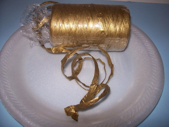 10 yds Paper Raffia, GOLD Paper Supplies, Gift Wrap, 16 Colors, Tags, Cards, Decorations, Garland,  Holidays, Handmade Flower Supply, PAFA