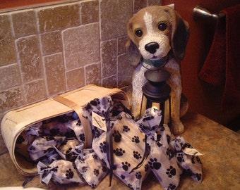 Gourmet Dog Bones Medium Organza Bag