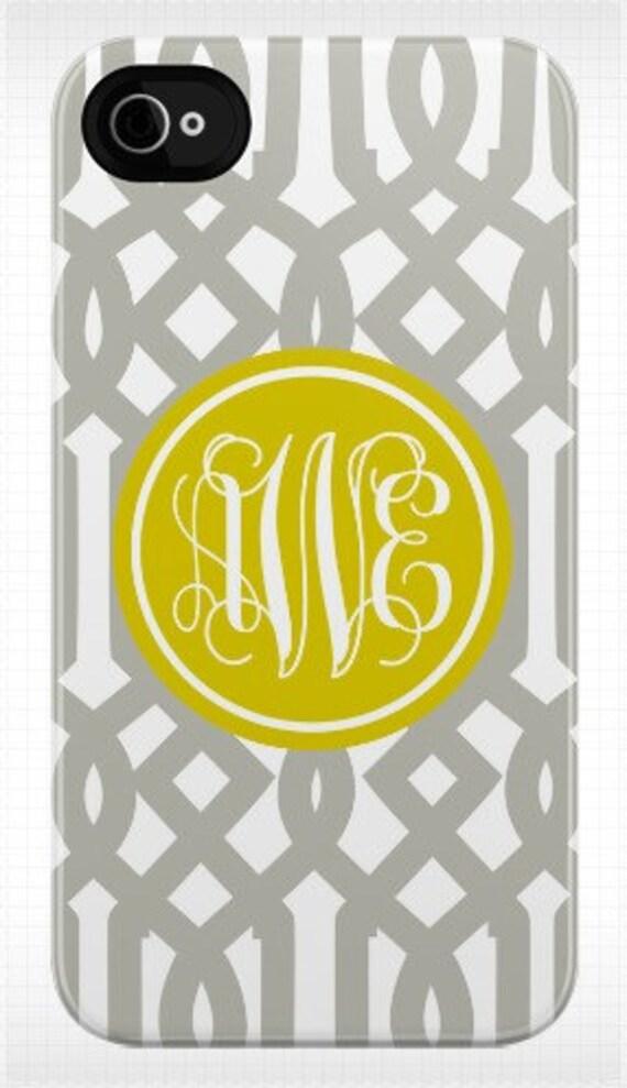 Personalized trellis iphone case