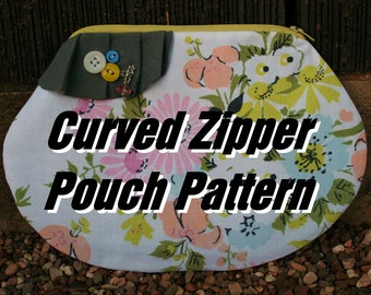 Shaped Zipper Clutch Template- PDF