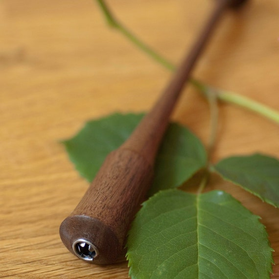 Post Hurricane Sale - Refined Black Walnut Dip or Calligraphy pen with Speedball Holder