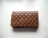 Cute rattan tiny wallet. Free shipping.