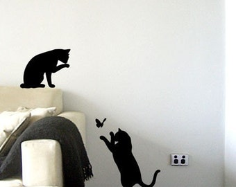 Le Chat Noir - Black Cats Wall Decal