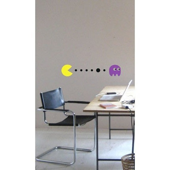 Pacman and  Pinky - Wall Decal