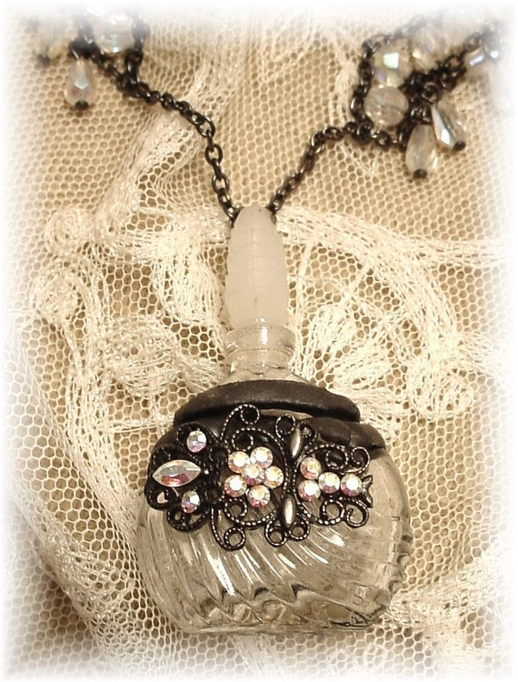 Perfume Bottle Necklace Soldered 1