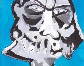 Homage to Derek Boshier - Dark Vador